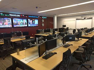DeSales University - The trading room in the Gambet Center at DeSales University.