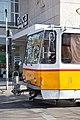 Tram in Sofia near Central mineral bath 2012 PD 043.jpg