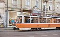 Tram in Sofia near Palace of Justice 2012 PD 014.jpg