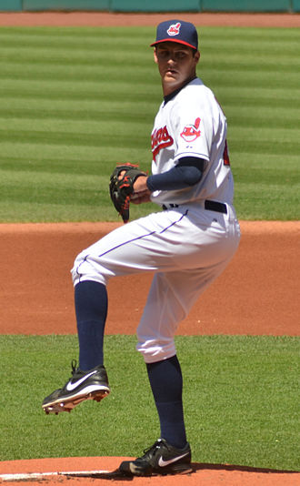 Trevor Bauer - Bauer with the Cleveland Indians