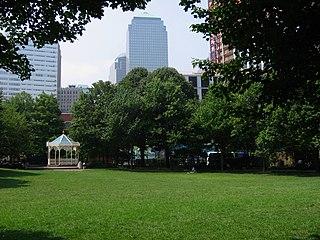 Washington Market Park park in Tribeca, New York City