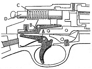 Trigger (firearms) mechanism that actuates the firing sequence of a firearm or crossbow