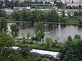 Troja a Císařský ostrov, Vltava, ostrůvek u zoo.jpg
