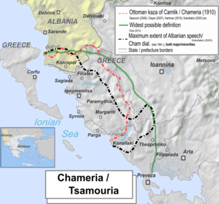 Chameria Designation of a historical region located in Epirus which was mostly inhabited by Cham Albanians.