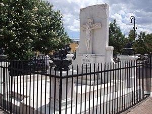 Luis Terrazas - A view of Terrazas' tomb in the churchyard of the Santuario de Guadalupe, Chihuahua, Chihuahua.