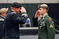U.S. Army Sgt. Peter Cimpoes, right, with the 2nd Battalion, 75th Ranger Regiment, salutes Lt. Gen. Robert B. Brown, the commanding general of I Corps, after receiving the Silver Star, during a special ceremony 130320-A-CD114-942.jpg