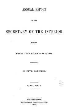 U.S. Department of the Interior Annual Report 1896.djvu