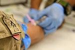 U.S. Marines and Sailors donate blood in Helmand province 140814-M-EN264-224.jpg