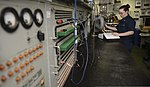U.S. Navy Aviation Electronics Technician 3rd Class Lorraine Mackin troubleshoots the radar system of an E-2C Hawkeye aircraft in the avionics shop aboard the aircraft carrier USS Nimitz (CVN 68) Aug. 20, 2013 130820-N-TW634-294.jpg