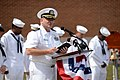 U.S. Navy Cmdr. Carl Trost, a chaplain, speaks during a 9-11 commemoration ceremony at Naval Station Newport, R.I., Sept 140911-N-PX557-221.jpg