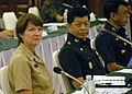 U.S. Navy Rear Adm. Nancy Norton, left, the director of Command, Control, Communications and Cyber for U.S. Pacific Command, and Royal Thai Army Lt. Gen. Soopakit Nutstit, the director of Joint Communications 130828-F-MT955-003.jpg
