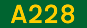 A228 road shield