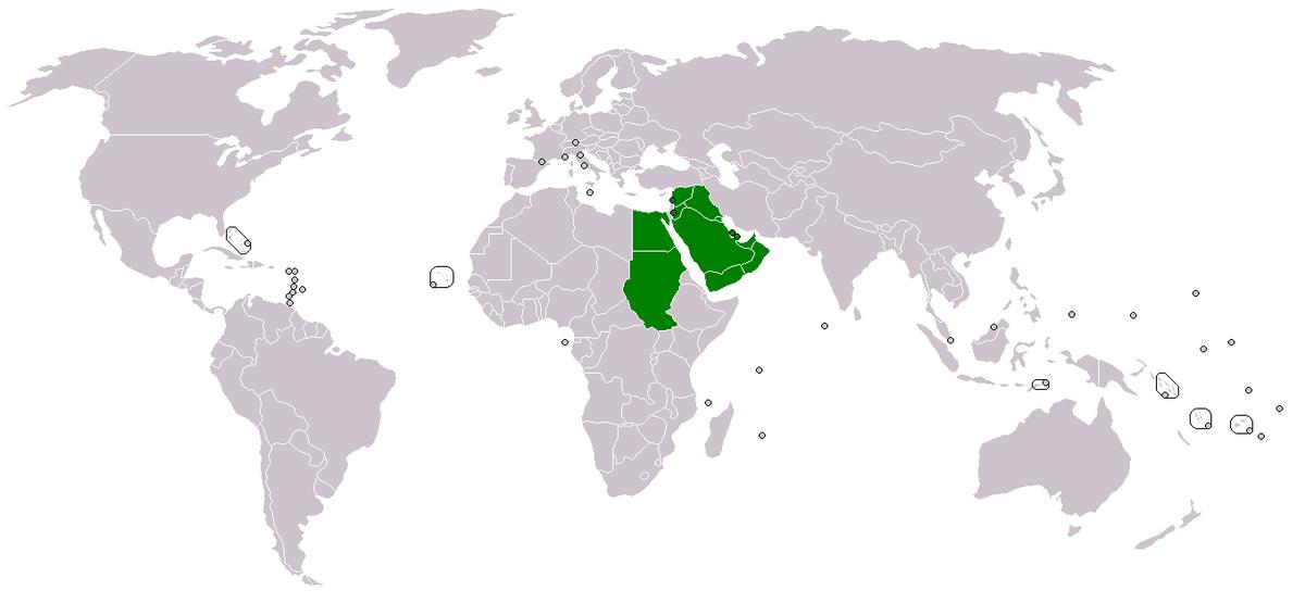 Westasien Länder