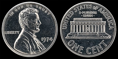 1974 aluminum cent - Wikipedia