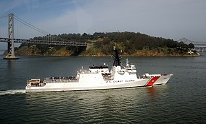 National Security Cutter - Image: USCGC Waesche by Yerba Buena Island