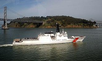 USCGC Waesche (WMSL-751) - Image: USCGC Waesche by Yerba Buena Island
