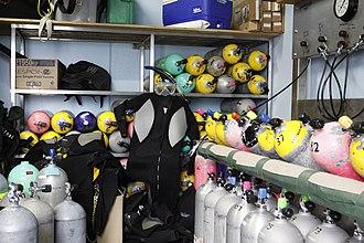 Diving cylinder - Dive shop scuba filling station