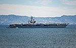 USS Dwight D. Eisenhower anchors off the coast of Naples, Italy. (27802920906).jpg