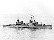 USS Gearing (DD-710) underway at sea on 27 January 1967 (KN 14675)