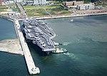 USS George Washington at Busan pier.jpg