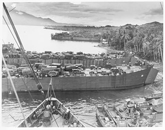 USS LST-26 - Image: USS LST 26 and USS LST 22 1944