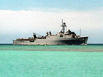USS Mount Vernon (LSD-39) - USS Mount Vernon (LSD-39) off Pearl Harbor on 1 June 1991