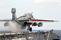 US Navy 021109-N-1810F-024 E-A6B Prowler launches from USS Kitty Hawk catapult one.jpg
