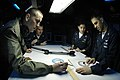 US Navy 050628-N-8604L-119 Aviation Warfare Systems Operators practice technical plotting for submarine detection in the Combat Direction Center aboard the conventionally powered aircraft carrier USS Kitty Hawk (CV 63).jpg