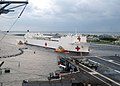 US Navy 050905-N-6343E-001 The Military Sealift Command (MSC) hospital ship USNS Comfort (T-AH 20) pulls into Naval Station Mayport, Fla., to take on supplies on their way to aid victims of Hurricane Katrina.jpg