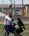 US Navy 071201-N-9013W-017 Sailors from Personnel Support Detachment Little Creek play in the Commander's Cup Army-Navy Flag Football tournament.jpg