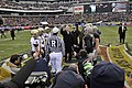 US Navy 081206-N-4565G-255 President George W. Bush conducts the ceremonial coin toss before the start of the 109th Army-Navy college football game at Lincoln Financial Field in Philadelphia.jpg