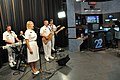 US Navy 100422-N-3750S-115 The U.S. Naval Academy Band, Electric Brigade, performs on the FOX affiliate KABB Channel 29 morning show, Fox News First, as part of a San Antonio Navy Week event.jpg