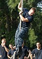 US Navy 100809-N-3857R-002 U.S. Naval Academy midshipmen navigate through the Naval Support Activity Annapolis obstacle course.jpg