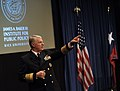 US Navy 101102-N-8273J-200 Chief of Naval Operations (CNO) Adm. Gary Roughead takes questions at the conclusion his remarks on Navy global influenc.jpg
