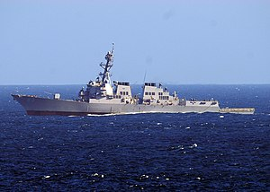 US Navy 101110-N-1004S-042 The guided-missile destroyer USS Howard (DDG 83) transits the Pacific Ocean.jpg