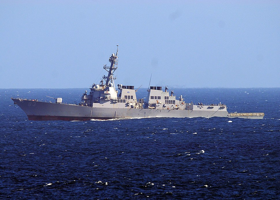 US Navy 101110-N-1004S-042 The guided-missile destroyer USS Howard (DDG 83) transits the Pacific Ocean