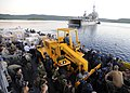 US Navy 110414-N-YM863-039 Personnel and supplies aboard Landing Craft Utility (LCU) 1665 are transported from the amphibious transport dock ship U.jpg