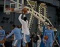 US Navy 111110-N-JN664-452 College basketball players from the University of North Carolina practice aboard the Nimitz-class aircraft carrier USS C.jpg