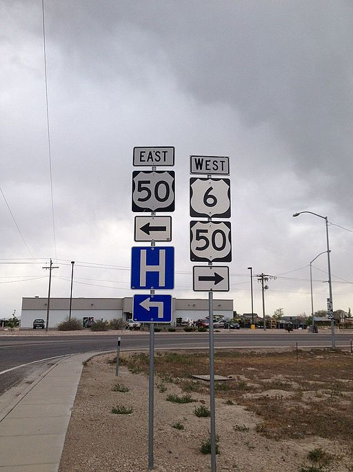 US Routes 6 & 50 Markers in Delta, Utah
