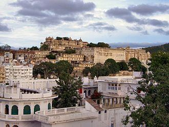 City Palace, Udaipur - Full view of the City Palace complex