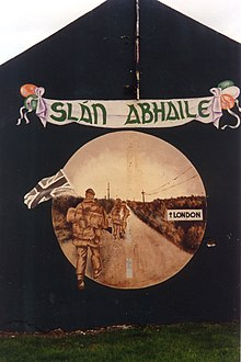 Sln abhaile wikipedia sln abhaile to british soldiers a mural in northern ireland featuring a reference to the yomper m4hsunfo