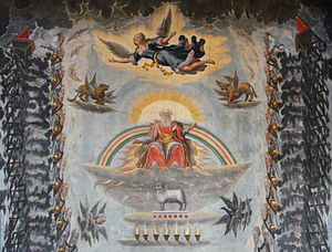 """Messiah Part III - """"Worthy is the Lamb"""", ceiling of Unionskirche, Idstein, ca. 1670"""