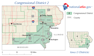United States House of Representatives elections in Iowa, 2006 - Image: United States House of Representatives, Iowa District 2 map