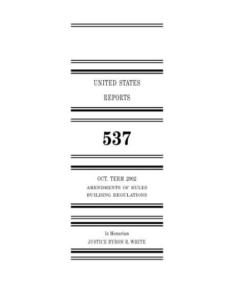File:United States Reports, Volume 537.djvu
