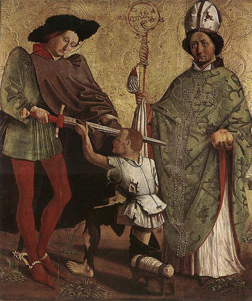 Unknown painter - St Martin of Tours and St Nicholas of Bari - WGA23777
