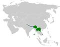 Urosphena pallidipes distribution map.png