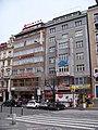 Václavské náměstí 41 a 43, palác knih Neoluxor a hotel Elysee.jpg