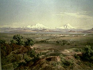 Economic history of Mexico - View of the Valley of Mexico by José María Velasco