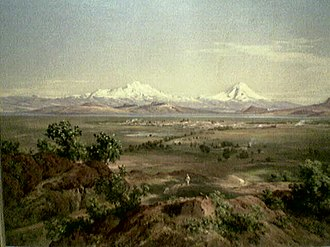 Valley of Mexico - A 19th-century painting of the Valley of Mexico by José María Velasco.