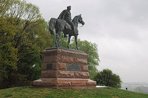 Philadelphia campaign - Image: Valley Forge Anthony Wayne statue